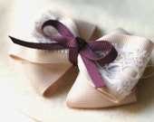Lacey Almond Beige Bow Hairclip (Violet)