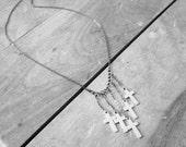 Five Crosses- necklace