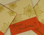 GOLDEN SNOWFLAKES Small Christmas Card Trio