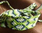 BLUEBERRY LIME - Embroidery bracelet