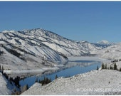 Snowy Mountain Photo - Mountain Landscape Photography  - Winter Scene -  Perfect for Home or Office
