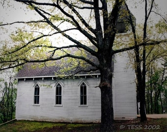 Country Chapel Photo - Church Photography - Old Church Photographic Print - Landscape