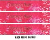 7 Piece Set - Pink Fabric Banner and Avatar Package