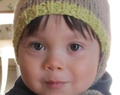 Number 4 Beginner Knitting Pattern Nature's Choice Organic Cotton Hat For a Boy or Girl  9-18 months, 2-3 years
