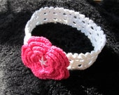 Instant Download Crochet Pattern #8 Cotton Headband for a Baby Girl in sizes 0-3, 3-6, 6-12 months and older
