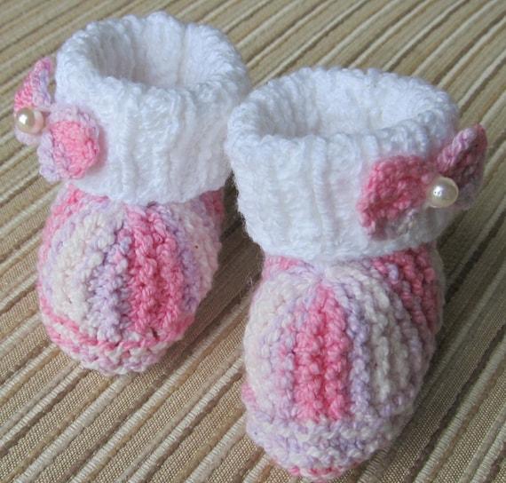 Number 41 Knitting Pattern Princess Booties Size Newborn- 3 months