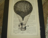 Around the World- 1877 Antique page -William Shakespeare - Free Shipping