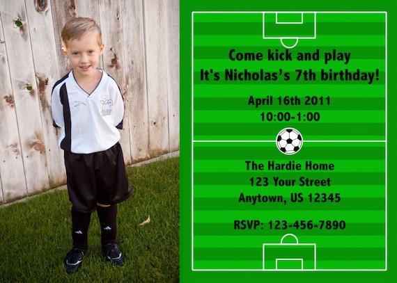 Soccer Photo Invitations-Printable PDF file
