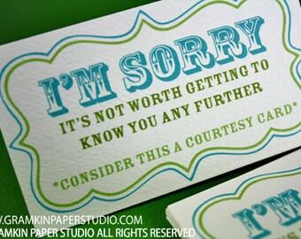I'm Sorry Courtesy Card-Set of 8