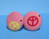 Peace ponytail holder pink