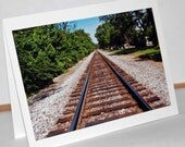 Summer Rails - Photograph Blank Note Card