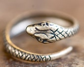 Serpent ring - Brass Ox Made in USA Stamping - Etsy Front Page