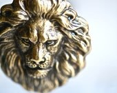 The Lion Necklace - Made in USA brass