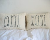skeleton key pillows