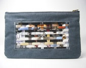 Sale- uprecycled clutch by weave paper