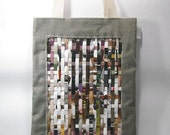 Sale - recycled tote by weave paper love eco