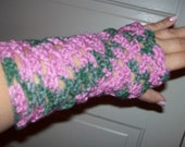 Pink and Green Camo Wrist Warmers