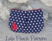 Lulu Pouch - Pleated Zipper Pouch PDF Sewing Pattern