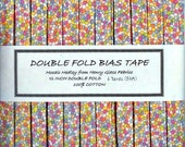 6 Yards Handmade Double Fold Bias Tape - MOASIC MEDLEY by Henry Glass