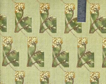 OOP Art Nouveau  Floral Blocks -from Michael Miller Fabrics