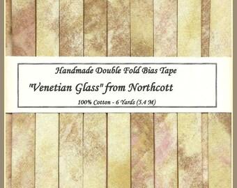 6 Yards Handmade Double Fold Bias Tape - Venetian Glass