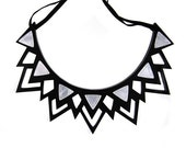 The Fitzgerald silver mirror spike necklace (small)