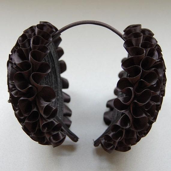 Black Pleated Headphone Headband