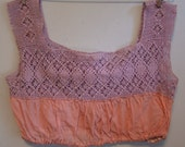 Sweetest Camisole- Lavender and Pink- 1910's Corset Cover