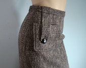 1940's Gray Pencil Skirt- Novel Pocket