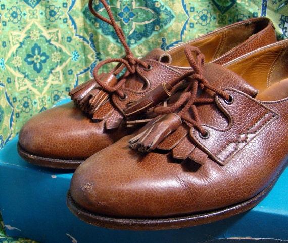 Kiltie Oxford Shoes- 1990's- Brown Leather- Ralph Lauren Polo