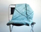 Teal Sunburst Pleated Throw Blanket