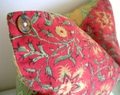 RESERVED for Deedra  Floral Accent Pillow Cover with Vintage Buttons