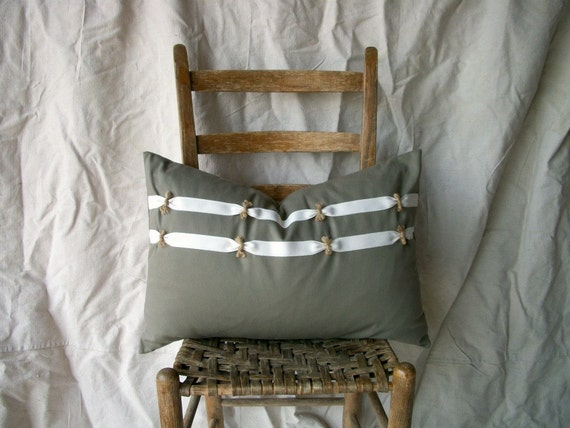 Modern Farmhouse Cotton/Twill Tape CINCH Pillow Cover