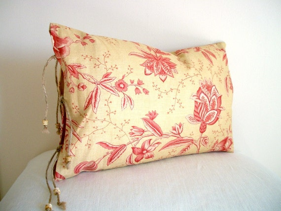 S A L E French Country Home Pillow Cover Floral Decorative Designer Fabric