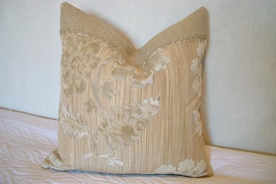 Velvet Floral Pillow Cover Luxury Natural Linen