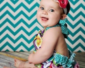 Retro Baby Ruffle Bubble Romper Newborn - 4T even DOLL SIZES