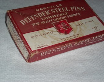 vintage Oakville Defender box  steel pins for Heavy fabrics