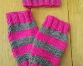 PDF Pattern Newborn Knit Ribbed Hat and Legwarmers