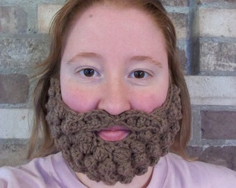 Custom Burly Beard and Mustache - Pair with Any Hat You Own - Adult S/M or L/Xl - Made to Order