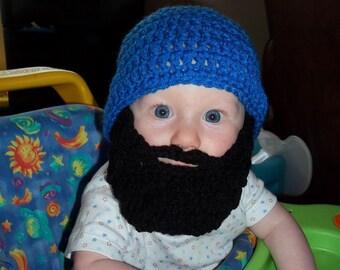 Lumberjack First Birthday, Lumberjack Party Supplies, Lumberjack Baby, Silly Fun Funny Father's Day Gift, Baby Beard Beanie, Baby Beard Hat