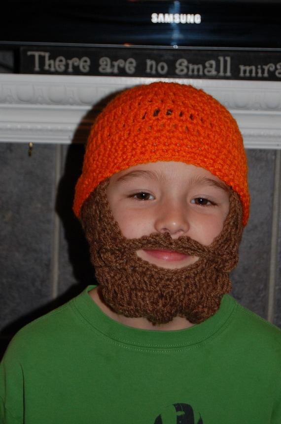 Custom Child Beard Beanie, Custom Kids Lumberjack Costume, Custom Boys Lumberjack Costume, Boys Lumberjack Birthday Party Hat, Boys Beard