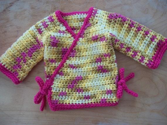 Crochet Baby Robe Pattern : Baby Boy Kimono Crochet Pattern, Boys Kimono Crochet ...