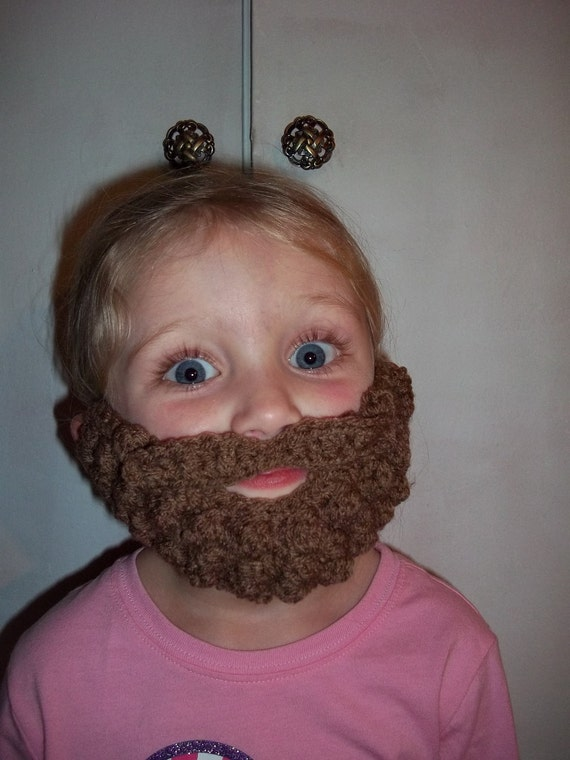PDF Crochet Pattern Burly Beard and Mustache - Pattern Covers 6 Months to 10 Years - Not a Finished Beard - Crochet Pattern Only