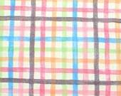 Rainbows Plaid Fabric Home Decor