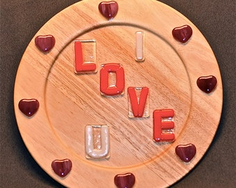 Valentine's Day Wooden Plate For LOVE.