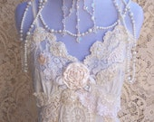 French Vintage Lingerie Wedding Gown - Italian Lace Romance - Sz. Small - Medium