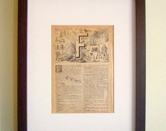 Antique  French Letter Pages