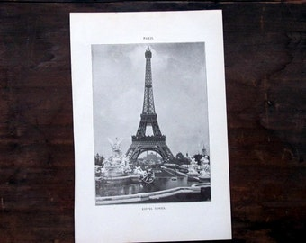 Paris Photos, Four Antique Prints, 1907