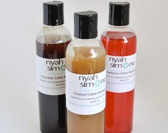 Limited Sale - Three Flavors Edible Massage Oils, 8oz each