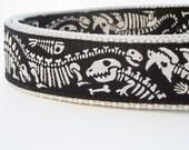 Dino Dog - Dog Collar / Pet Accessories / Handmade / Adjustable / Collars /Jurassic